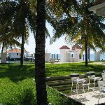 Lawn in front of neighboring Belize Yacht Club