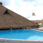 Pool and restaraunt roof