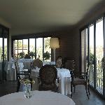 terrazza del ristorante di villa san paolo