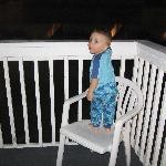 The Balcony is where my Grandson spent most of his time inside, looking at he