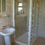 bathroom with power shower