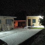 The yard, and my airconditioned room