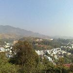 View from Phra Thad Doy Wao Pagoda across Mae Sai and over to Myanmar