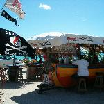 Boat Bar on airport beach