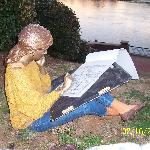 Girl Artist Statue