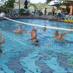 Pool volleyball keeps you fit!