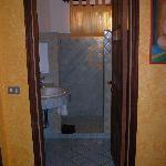 Doorway to one of the bathrooms