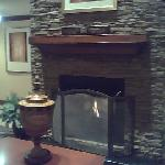 The lobby fireplace. NICE!!