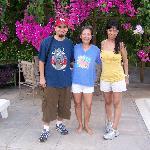 Javi, Elise, & Monika by the Pool Garden