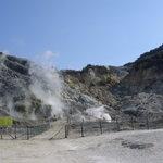 Many fumaroles