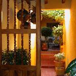 Entryway into hotel