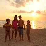 Sunset with kids