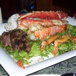 Alaskan king crab, filet, shrimp, potatoes..the couples dinner