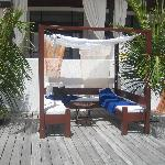 Day bed on the deck