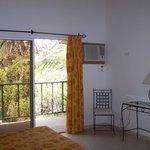 Chambre du duplex avec balcon