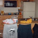 kitchen area from diner table