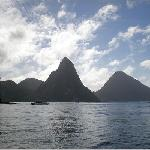 Piton mts from the water