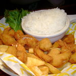 Shrimp Platter with rice, instead of firies
