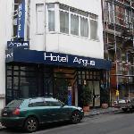 Front door of the Hotel Argus