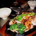 teriyaki teppanyaki with chicken and shrimp