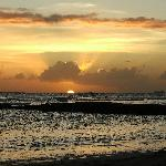 Sunset on beach 30 seconds away