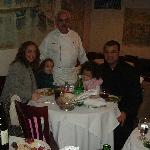 Chef Silvo with his daughter, son-in-law and grand-children