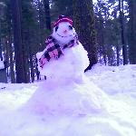 snowman onsite made by other guests