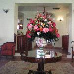 Flowers in front lobby