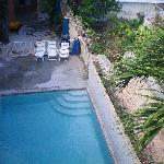 Swimming pool as seen from 3rd floor veranda