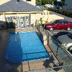 Pool and guest parking