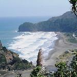 Lovely Piha Beach on West Coast - just cos we love it