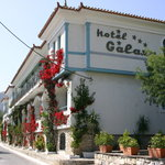 Galaxy Hotel, Samos - front