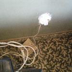 prise électrique  avec fils sortis