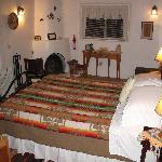 Kiva Fireplace in Main Room of Casita