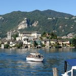 San Giulio island from Orta village