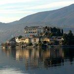 San Giulio island from Hotel San Rocco