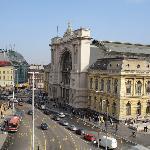 View to the Keleti Rail Station
