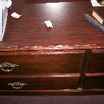 Days Inn beat up dresser