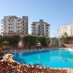 The pool with a view of surrounding area