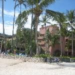 One of the hotel buildings