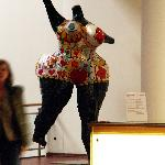 (forbidden to take photos inside the Museum) work by Niki de St. Phalle
