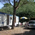 The caravan on the site