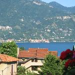 View from the balcony of our room overlooking Lake Como