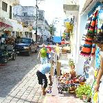 shopping in town at Isla Mujeres