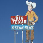 big texan sign