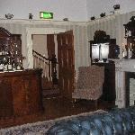 The sitting room where dinner was served
