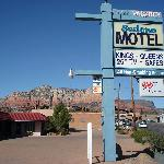 Outside the motel