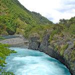 Saltos de Petrohue: el color del agua se debe a su origen glaciar