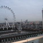Evening View from Room Balcony: London Eye