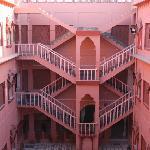 The inner court yard Sagar Hotel